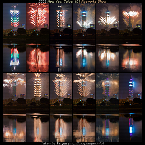 2008 New Year Taipei 101 Fireworks Show Collections