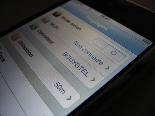 Mon iPhone en français et sur Bouygues Telecom