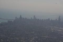5. Chicago skyline through dirty window (janeymoffat) Tags: chicago skyline flying downtown searstower lakemichigan landing dirtywindow chicagoskyline fromtheairplane