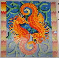 Seahorses Needlepoint as of 1/21