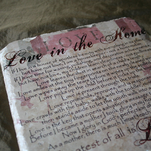 Love in the Home - Travertine Tile 1