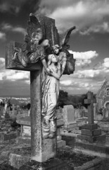 Helping hand (Skinnyde) Tags: cemetery grave angel october cornwall cross panel searchthebest skinnyde pray 2007 redruth cotsmono lpceremonies