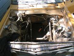 ready for the new heart (kneesamo) Tags: pickup swap motor 1973 datsun butterscotch 620 l20b bulletside pl620