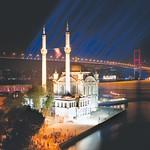Istanbul: Ortakoy Mosque-Night