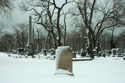 Cemetery and Snow