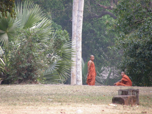 Monks outside a temple