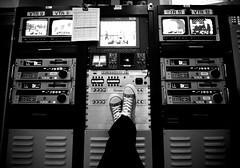 109/365 - FUTAB Friday! (anthonyskelton) Tags: selfportrait news me station work shoes wideangle tapeop 10mm morningnews newscast newsneakers 365days futab feetuptakeabreak