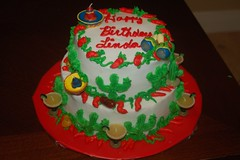Linda's cake (fmcmulle) Tags: cactus margarita sombrero chilipeppers mexicancake