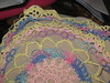 Spring doily edge closeup
