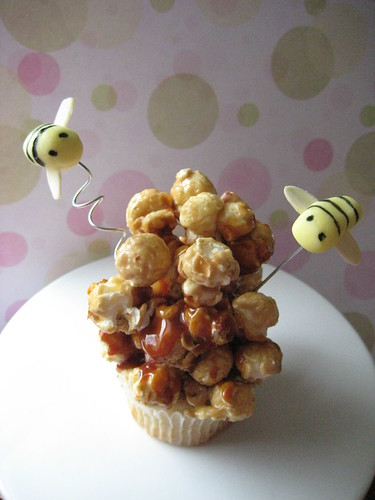 Cupcake with Bees