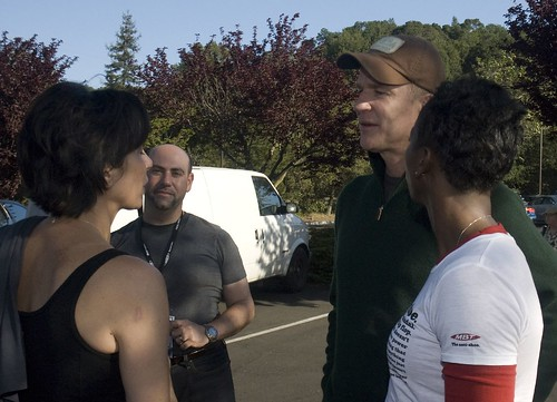 Matthew Modine and Paul Oliva with Sherry Poe and former Olympian Sharon