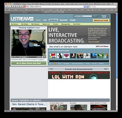 uStream Front Page