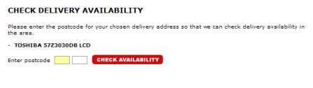 Currys check delivery availability