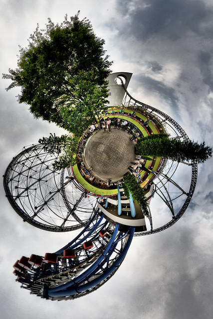 Roller coaster planet
