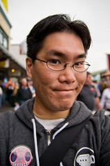 at the market (poopoorama) Tags: seattle selfportrait me washington nikon sigma danny year2 pikeplacemarket day55 d300 365days 1850mmf28exmacrohsm