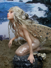 #70 Muireen ~ Flying fish Mermaid (Nenfar Blanco) Tags: sculpture art doll oneofakind ooak polymerclay fantasy mermaid nenufarblanco
