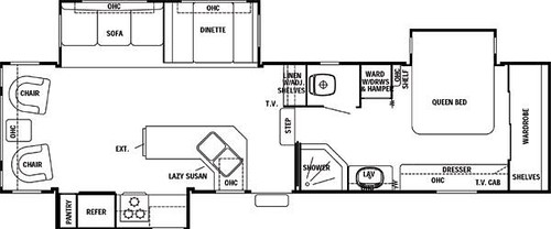 2002 Cedar Creek 34CKTS Floor plan