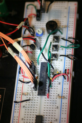 LCD Clock Breadboard