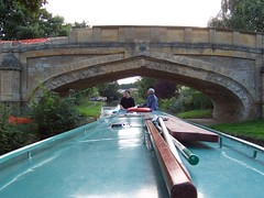Canal Boat, Bridge (crwilliams) Tags: bridge boats canal date:year=2005 date:month=september date:day=20 date:wday=tuesday date:hour=16