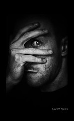 _ (Laurent Nivalle) Tags: portrait blackandwhite bw selfportrait eye french hand nivalle laurentnivalle