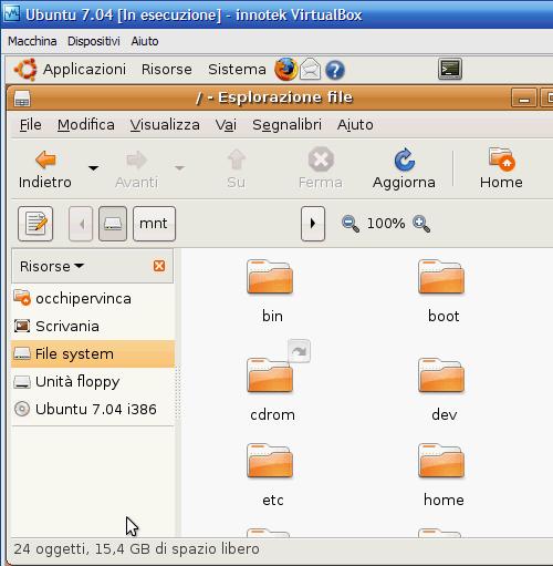 Fig. 6 - Compattazione disco virtuale - spazio guest iniziale
