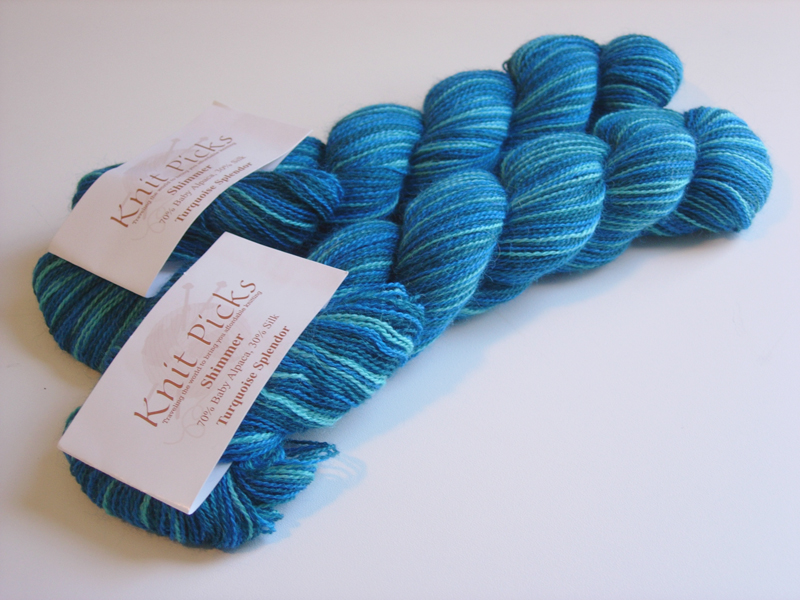 Knit Picks Shimmer - Turquoise Splendor