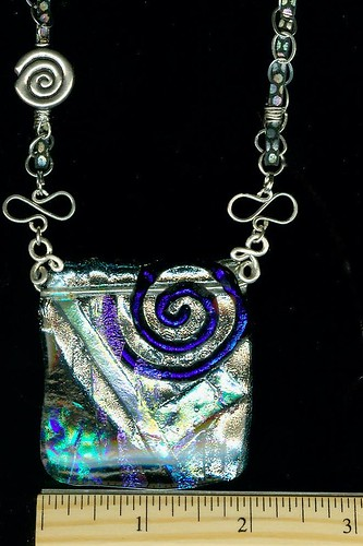 blue swirl dichroic pendant necklace scan with ru1