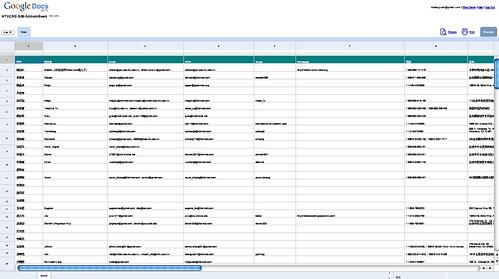 contact list of my undergradute classmates