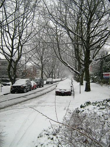 Obligatory Snowy Vancouver Street