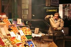 Roasting Chestnuts (enterrandomnamehere) Tags: christmas city winter food london oxfordst cityscenes £1 fruitstall digitalcameraclub roastingchestnuts chestnutroasting