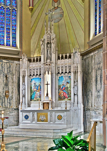 Saint Elizabeth, Mother of John the Baptist Roman Catholic Church in Saint Louis, Missouri, USA - altar 1