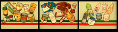 Mexican Specialty Products (1SHTAR) Tags: bridge red food green art window sign painting mexico soap comida super can mexican mercado jug chorizo jugos grocery 505 limpio supply jabon burque jbf murcielaga