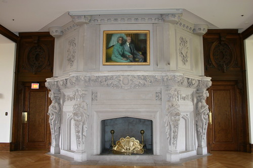 Ballroom Fireplace and Doors to Study and Gold Room