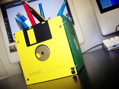 Floppy disk pen holder (Pixel Fantasy) Tags: pen floppy macs holder disks