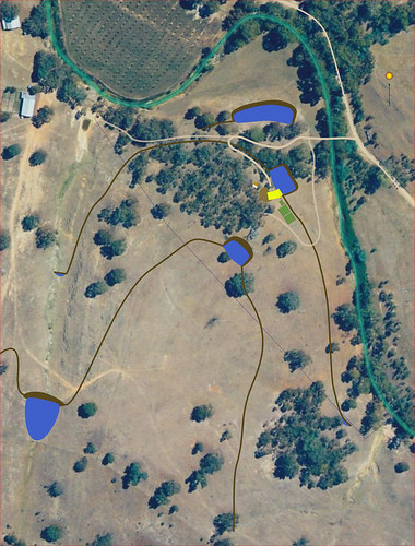Permaculture Design of Milkwood with aerial photo