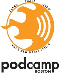 PodCamp Boston 3 draft logo