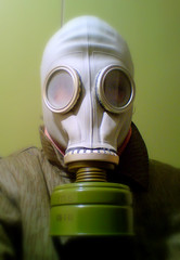 Self portrait with East German / Soviet respirator
