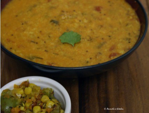 Spring Onion Moong dal curry
