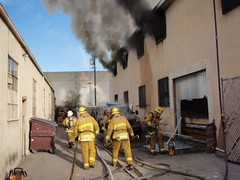 Fire in Sun Valley industrial firm. © Photo by Scott LaRue. Click to view more...