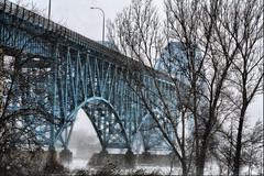 Grand Island Bridge (Scallop Holden) Tags: new york bridge winter snow storm island buffalo grand blizzard hdr 08 tonawanda