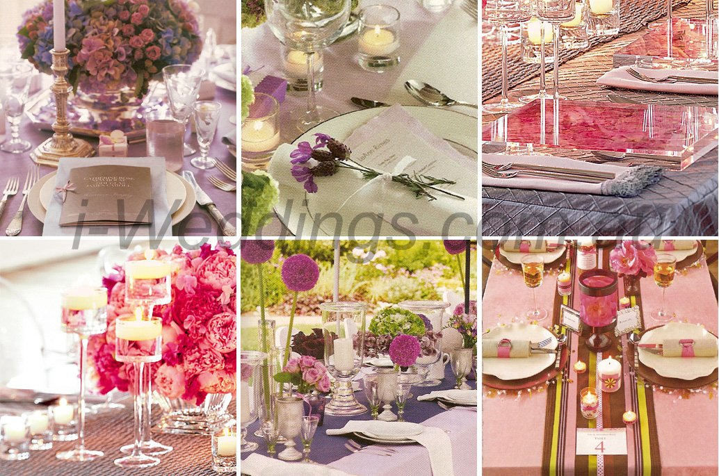 ilovethese table setting ideas - pink purple