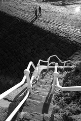 Breakwater (Chris Leather) Tags: bw stairs steps paving breakwater