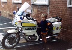 Boy With A Motorbike 1980s