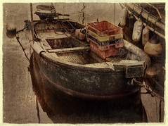Empty Boxes (wolfmanmoike) Tags: sea texture boats artistic harbour expression grunge boxes wicklow photoart arklow blueribbonwinner artisticexpression platinumphoto aplusphoto memoriesbook platinumheartaward photoartbloggroup