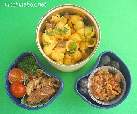 Bulgogi mac & cheese bento lunch for preschooler