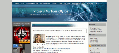Vicky's Virtual Office