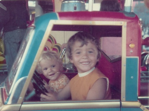 Andrew and I Porthcawl Fair circa 1975