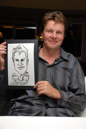 Caricature Christopher Tan 60th birtyhday party 7