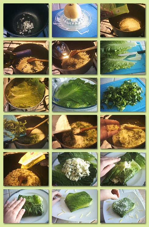 preparazione bauletti di riso lattuga e limone