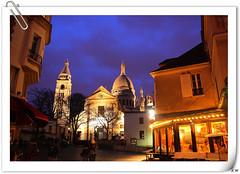 Sacre-Coeur (Eric Wang Colorful World) Tags: travel paris france louvre visit sacrecoeur toureiffel arcdetriomphe